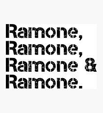 The Ramones [line-up] Photographic Print