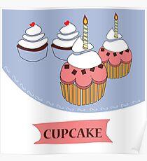 cupcake illustration  Poster