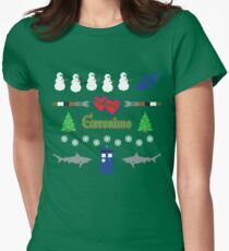 Ugly Christmas Sweater Special Womens Fitted T-Shirt