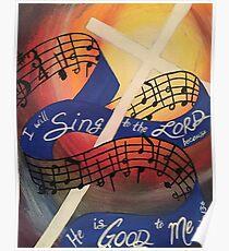 Sing Music Cross Poster