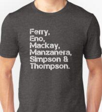 Roxy Music [line-up] Slim Fit T-Shirt
