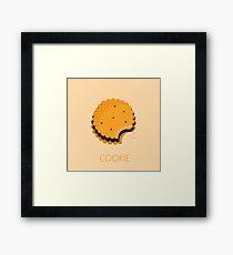 cookie illustration Framed Print
