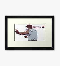 Street Fighter - Ryu Fighting Stance Framed Print