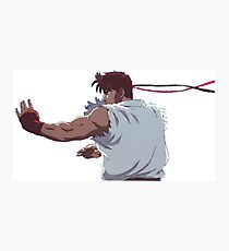 Street Fighter - Ryu Fighting Stance Photographic Print
