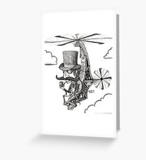 The Gentleman's Wacky Flying Machine Greeting Card