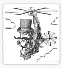 The Gentleman's Wacky Flying Machine Sticker