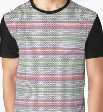 Colorful imitation of knitted pattern Graphic T-Shirt