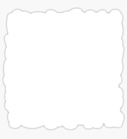 White Paisley on Color #A38E09  Sticker