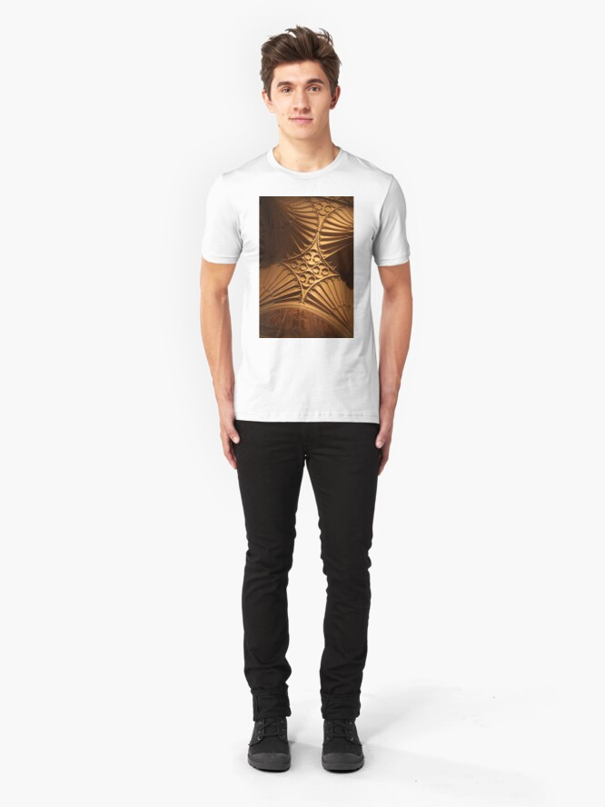 Alternate view of Tewkesbury Abbey - Vaulted Ceiling Slim Fit T-Shirt