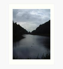 Crag Water Art Print