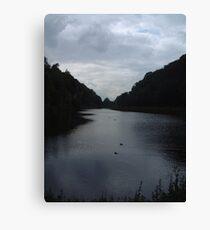 Crag Water Canvas Print