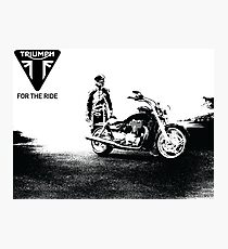 Triumph cruiser Photographic Print