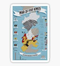 War of Five Kings Infographic Sticker