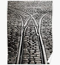 Abandoned Tram lines, Guiness Brewery, St Jame's Gate, Dublin. Poster