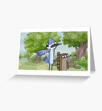 Mordecai & Rigby - Regular Show Greeting Card