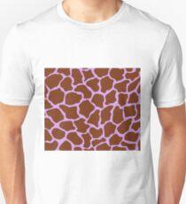 Bright Ube in Giraffe Pattern  Unisex T-Shirt