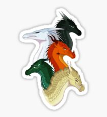 Wings of Fire Second Arc Main Characters Sticker