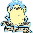 Sassy Body Positive Chick by Sabtastic