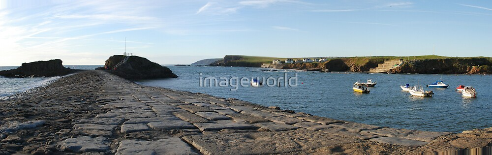 Barrel Rock Panorama by imageworld