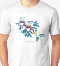 Geometric Abstract Weedy Sea Dragon Unisex T-Shirt