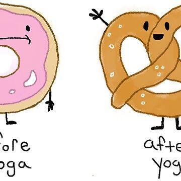 Yoga Donut, Yoga Pretzel! by solidsauce