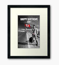 Justin Trudeau: Happy Birthday, Eh? Framed Print