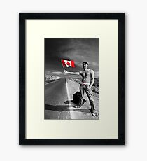 Justin Trudeau: Welcome to Canada Framed Print