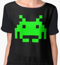 Space Invaders Alien Sprite Chiffon Top