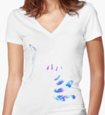 Horses illusion Women's Fitted V-Neck T-Shirt