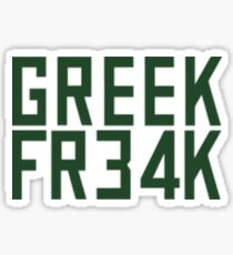 Greek Freak 34 FR34k Sticker