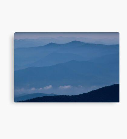 The Far Blue Mountains Canvas Print