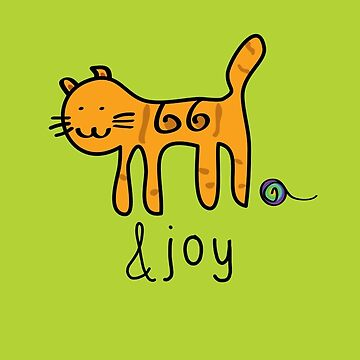 Cute Cat &joy Doodle Graphic Design by thejoyker1986