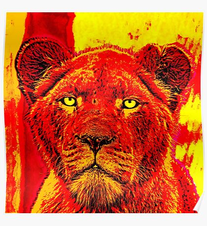 Red Lioness Poster