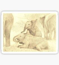 Elephants Family Gathering Sticker