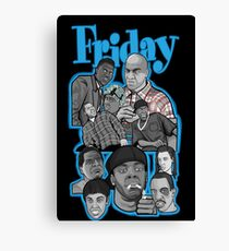Friday character collage Canvas Print