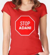 Stop Adani - End Coal Mining in Australia Women's Fitted Scoop T-Shirt