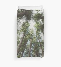 Forest Sky - Green Trees Reaching into the Clouds Duvet Cover