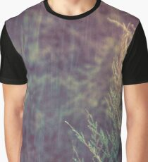 Green Forest - Snow and Rain on Fir Tree Branches Graphic T-Shirt