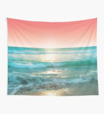Aqua and Coral, 1 Wall Tapestry