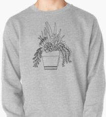 Potted Succulents (black) Pullover