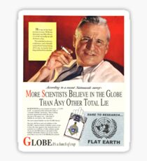 """Flat Earth Designs - """"Scientists Agree..."""" DARE TO RESEARCH FLAT EARTH Sticker"""