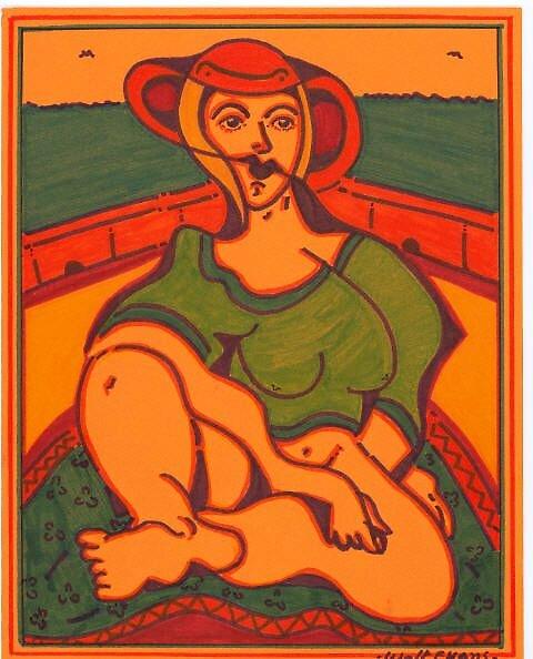 orange lady by madvlad