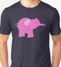 Pink Elephant | Whimsical Animals T-Shirt