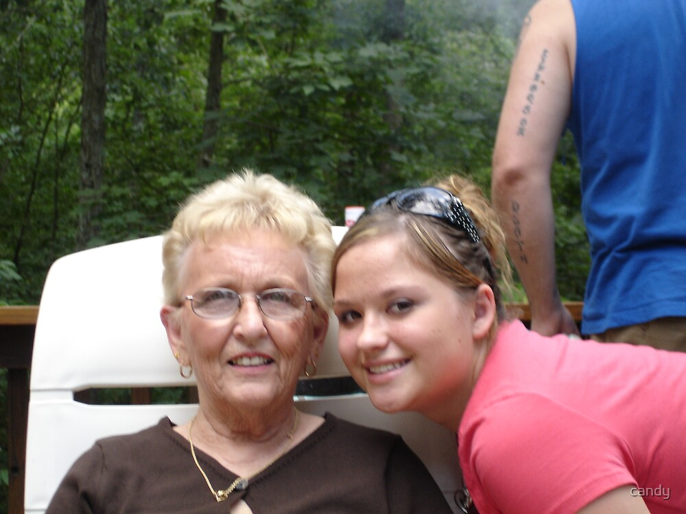 My mom and Brit by candy
