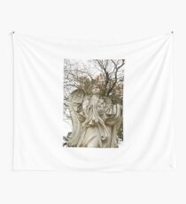 Angel in Fall Wall Tapestry