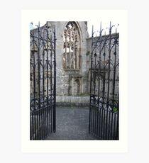 church gates Art Print