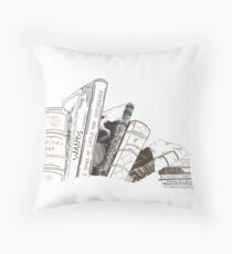 A Witch's bookcase Throw Pillow