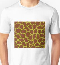 Acid Green in Giraffe Pattern Unisex T-Shirt