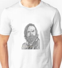 Murtaugh Fitzgibbons Fraser from Outlander, hand drawn in charcoal. T-Shirt