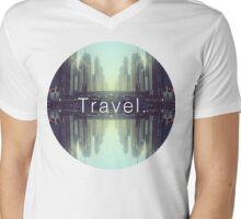 Travel. Dubai Mens V-Neck T-Shirt
